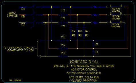 wye delta motor starting schematics ecn electrical forums