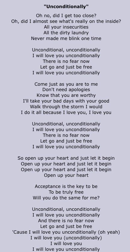 testo unconditionally the gallery for gt unconditionally katy perry lyrics