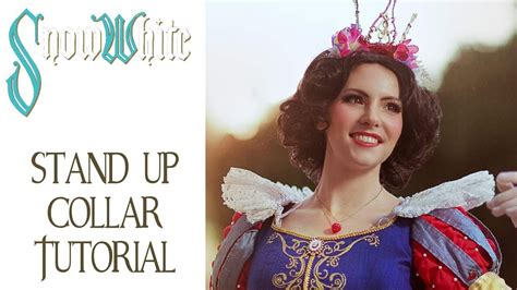 pattern for snow white collar snow white costume tutorial elizabethan stand up collar
