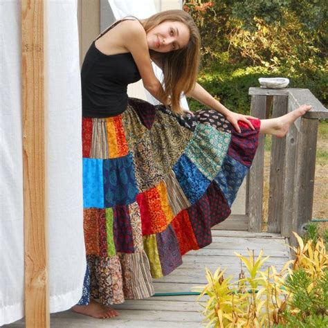 womens patchwork skirt 4 tiers handmade for all sizes to womens patchwork skirt 4 tiers handmade for all sizes