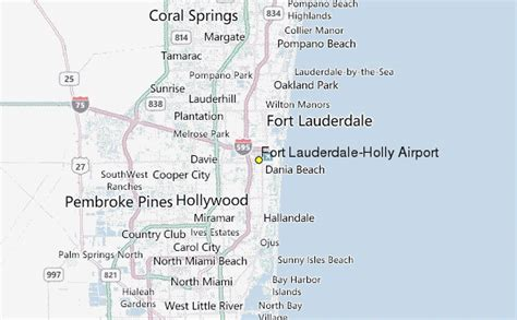 fort location map fort lauderdale airport weather station record