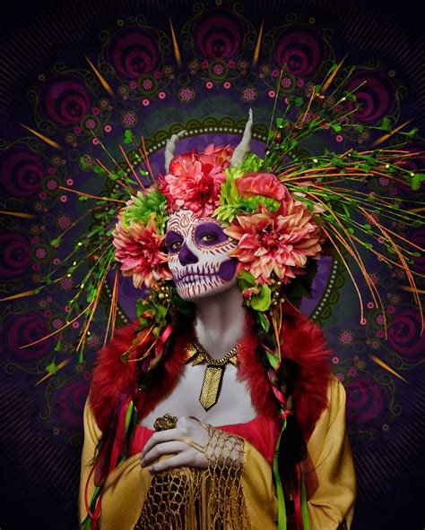 day of the dead books dia de los muertos publications las muertas deadly beauties pose in colorful tribute to