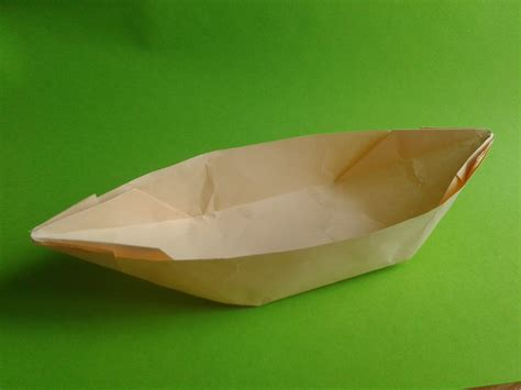 How To Make A Canoe Out Of Paper - how to make an origami boat canoe