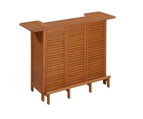 Outdoor Bar Cabinet Wood U Shaped Outdoor Bar Storage Cabinet Table Patio Drink Entertain
