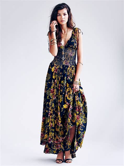 Fashion Freepeople by Free Womens Fp One Wisteria Maxi Dress In