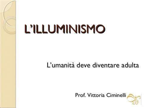 l illuminismo
