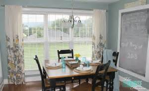 Curtains In Kitchen Hanging Curtains Rustic Tray The Day Of Preschool The Turquoise Home