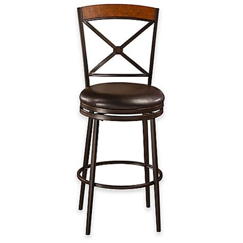 Bed Bath And Beyond Bar Stool Buy Colton Swivel Counter Stool In Brown From Bed Bath Beyond