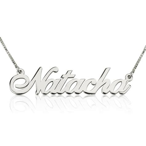 O Necklace silver classic name necklace order now