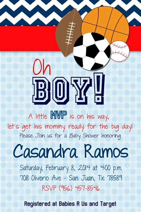 Baby Shower Invitations Sports Theme by Baby Shower Invitations For A Sports Themed Baby Shower