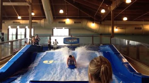 Soaring Eagle WaterPark Flow Rider! - YouTube