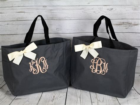 personalized bridesmaid gift tote bags monogrammed tote