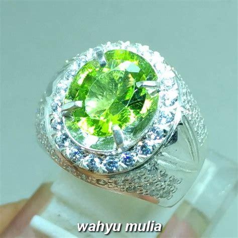Peridot Asli batu cincin permata green peridot asli kode 981 wahyu