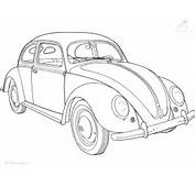 Voertuigen &gt&gt Auto Kleurplaat VW Kever
