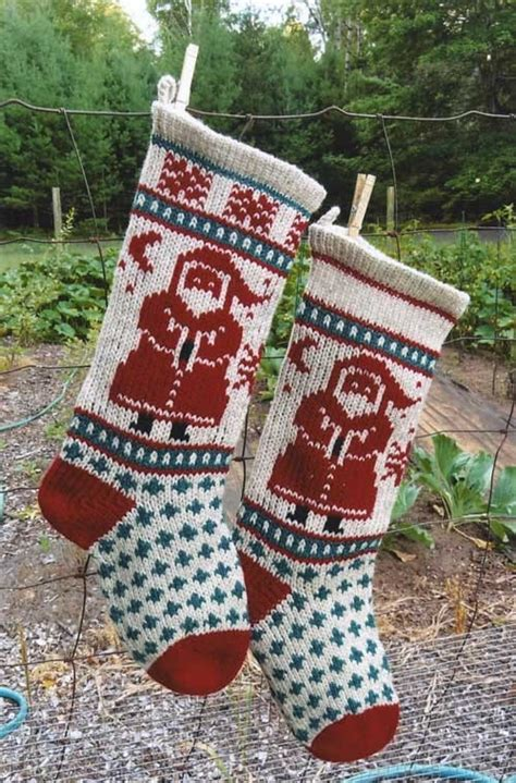 pattern knitted christmas stocking beginners santa christmas stocking knitting pattern patterns