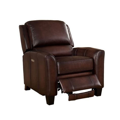 oxford recliner oxford traditional genuine brown leather powered reclining