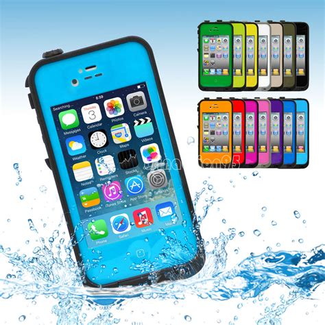 Waterproof Shockproof Cover For Apple Iphone 4 4s waterproof snowproof shockproof dirtproof skin cover