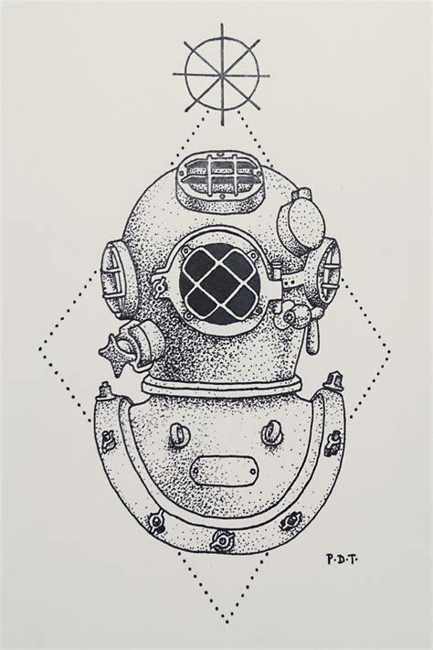 antique diving helmet by aephylis on deviantart