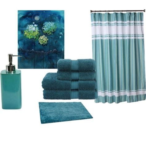 teal blue bathroom accessories house decor ideas