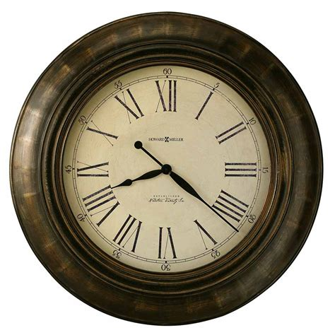 large wall clock brushed metallic aged dial large round wall clock