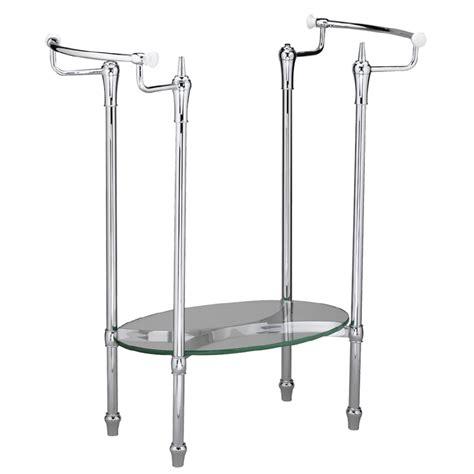 Chrome Pedestal Sink shop american standard standard collection 29 in h chrome iron pedestal sink base at lowes