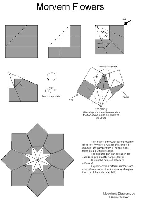 Origami Flowers Pdf - origami easy origami folding how to