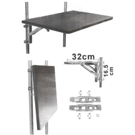 table pliante inox accessoire bateau cing car osculati equerre inox planble