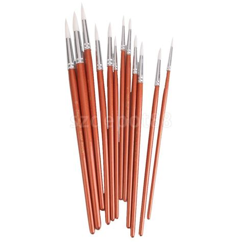 best brush for acrylic paint on canvas 12pcs artist paint brushes pointed brush set watercolor