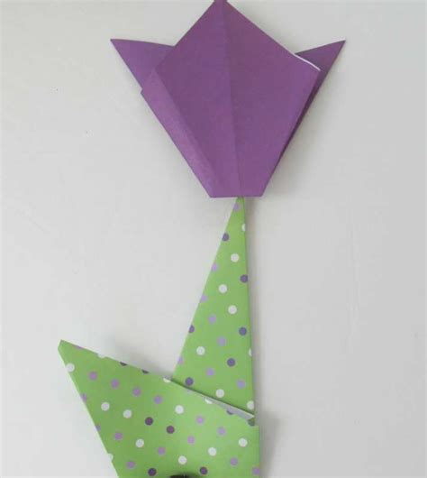 Tulip Origami Easy - make a simple origami tulip with your