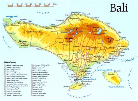 bali island street map detail  guide bali weather
