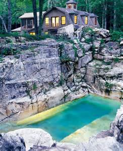 Beautiful Pool Backyards Is This Quarry The Most Beautiful Backyard Pool In America Spaces Yahoo Homes