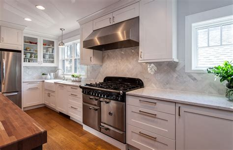 Kitchen Remodel With White Cabinets by White Shaker Kitchen Cabinets Espresso Island Butlers Pantry
