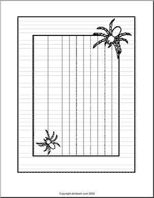 Writing Paper Spider Elementary Abcteach Border Paper Spiders Primary Elementary Abcteach