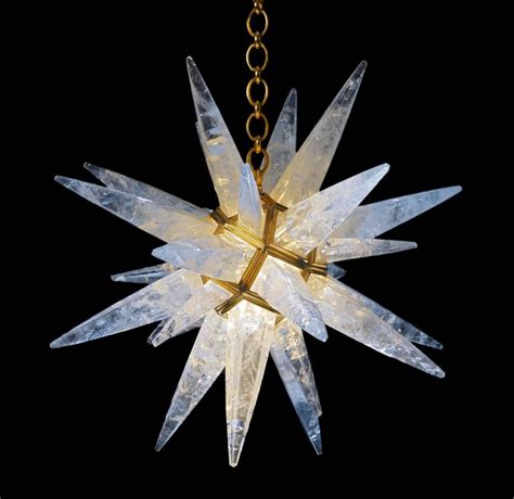 Star Chandelier Rock Crystal Star Chandelier By Alexandre Vossion For Sale