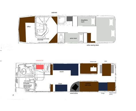 school rv conversion floor plans image result for decker conversions home on wheels decker