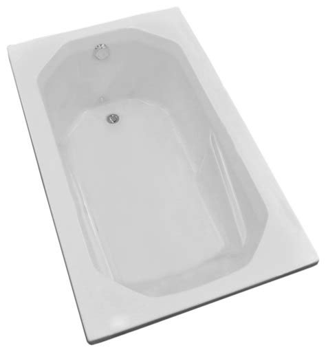 36 x 60 bathtub vasari 36 x 60 rectangular soaker drop in bathtub tub w