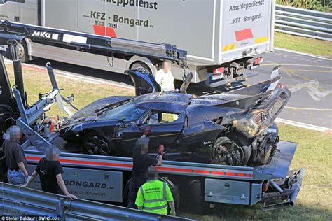 koenigsegg one 1 crash koenigsegg one 1 hypercar in crash at the nurburgring