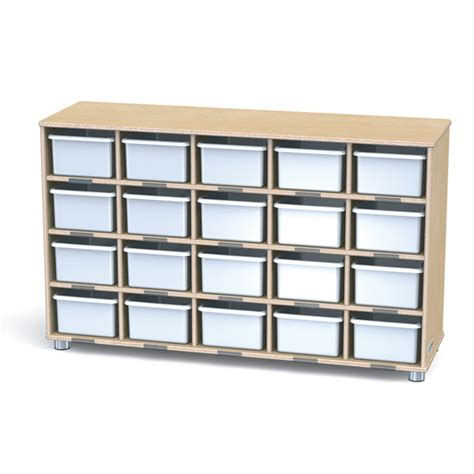 jonti craft twenty cubbie shelf with white cubbie trays