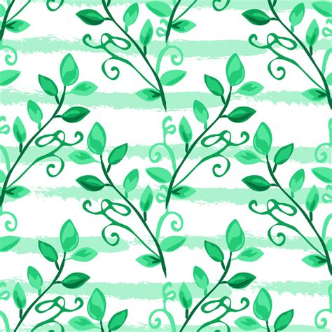 branch name pattern means tree branches with leaves seamless pattern vector 07