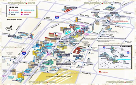 map las vegas las vegas hotels map map2