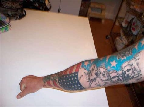 usa flagge und ber 252 hmte us pr 228 sidenten tattoo am arm