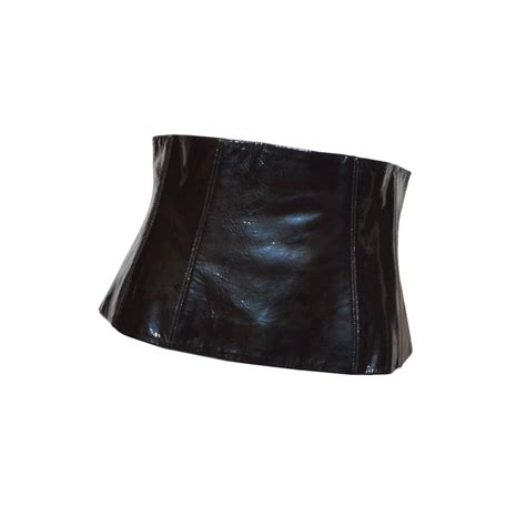 chanel 01a patent lambskin leather corset belt at 1stdibs