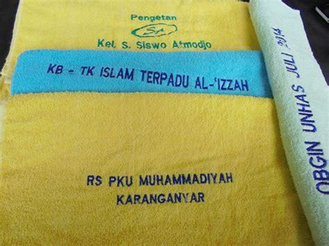 Bordir Nama Di Handuk souvenir handuk bordir