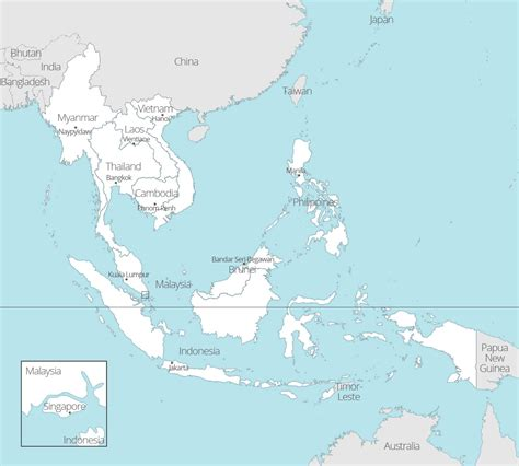 southeast asia map with capitals 8 free maps of asean and southeast asia asean up