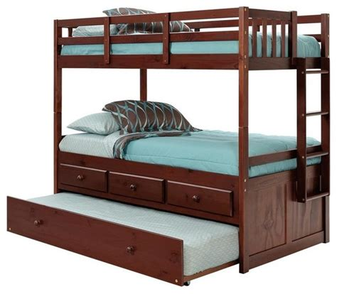 Bunk Bed Shops Shop Houzz Chelsea Home 83 Quot Bunk Bed With Trundle Bunk Beds