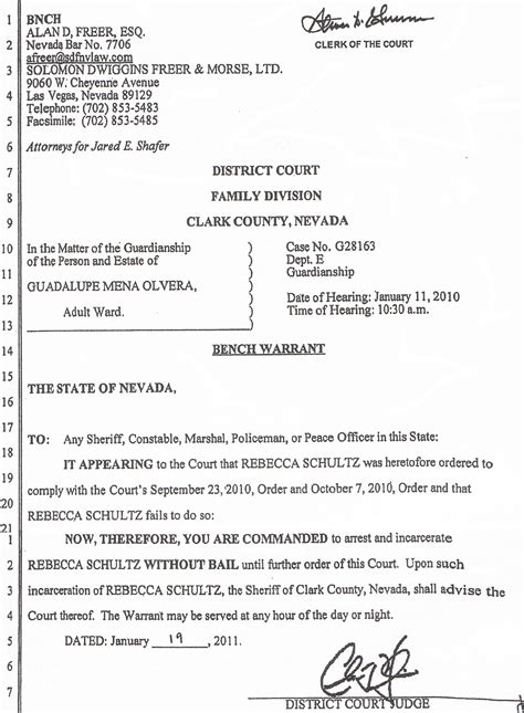 Arrest Warrant Search Indiana Nevada Jared Shafer And Fargo Bank Sued For
