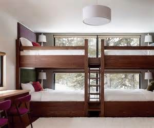 bunkbed ideas cozy bunk bed design ideas with simple wooden ladder