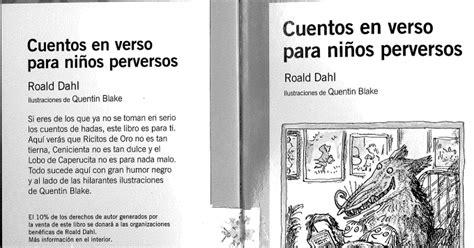 libro cuentos en verso para cuentos en verso para ni 209 os perversos libro escaneado pdf google drive