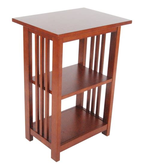 alaterre mission 2 shelf end table in cherry beyond stores