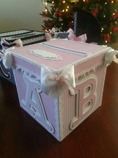 Baby Shower Gift Card Box - pink and white money card box gift card box baby shower card box baby keepsake
